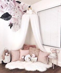 Unique 10 layers of yarn princess bed net canopy white - canopy . - Unique 10 layers yarn princess bed net canopy white – bed canopy diy, bed canopy children, bed ca - Bed Net Canopy, Bed Canopy With Lights, Kids Bed Canopy, Bed Tent, Canopy Curtains, Bed Canopies, Baby Bedroom, Girls Bedroom, Bedroom Decor