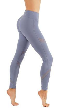 CodeFit Yoga Pants Power Flex Dry-Fit Cross Mesh Exposed Back Zipper For STORING Full Length Leggings at Amazon Women's Clothing store: