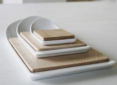 Cutting board w.easy scoop!