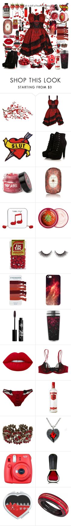"""""""Life Is Beautiful...If You Know What To Look For XxX"""" by cory-price ❤ liked on Polyvore featuring Brewster Home Fashions, Fresh, Happy Plugs, The Body Shop, Rouge Bunny Rouge, Lime Crime, Myla, Sweet Romance, Fuji and Oribe"""