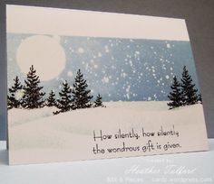 Snow scene using masking fluid resist