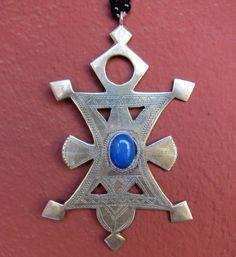 Big Tuareg Compass Cross Silver with Blue Agath https://www.etsy.com/listing/183582612/big-tuareg-compass-cross-silver-with Agath