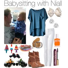 I don't even care about the outfit....babysitting with Niall! I mean come on!