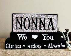 Personalized Gift for Nonna Grandma Christmas by TimelessNotion
