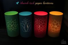 """Have to try this, they are so pretty!  Thumb Tack Paper Lanterns  """"Lines Across"""" dot com"""
