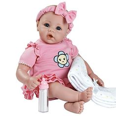 Adora BabyTime Pink 16 Weighted Washable Girl Play Doll Gift Set Ensemble for Toddlers 3 (Includes Bottle & Blanket Snuggle Soft Huggable Vinyl Toy) Review