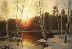 """Alexander Sarychev (Russe, b.1961) ~ """"Spring Sun"""", 2008 ~ Huile sur Toile"""