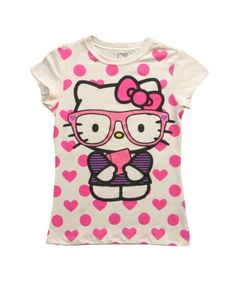 b08766158 This Tween Hello Kitty Cute Meets Smart T-Shirt has Hello Kitty wearing  some cute