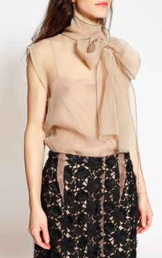 Blush silk top from Lanvin