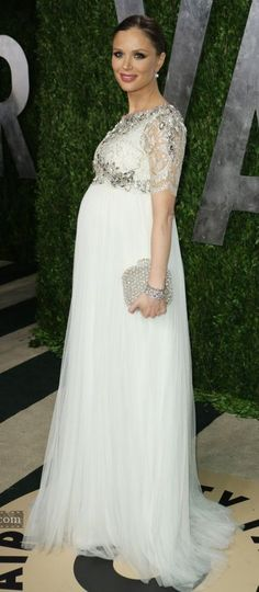 ~ Living a Beautiful Life ~ Georgina Chapman, Marchesa designer and co founder, in her own design.                                                                                                                                                                                 Más