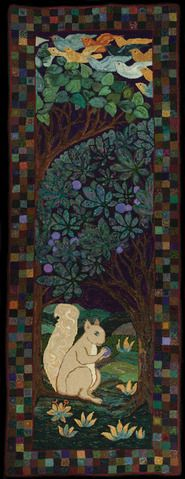 """Enchanted Forest"" hand hooked by Ivi Nelson Collier (rug hooking) Hook Punch, Latch Hook Rugs, Rug Inspiration, Hand Hooked Rugs, Wool Art, Rag Rugs, Wool Rugs, Braided Rugs, Penny Rugs"