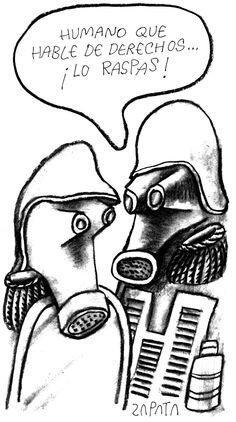 Humano que hable de derechos ¡Lo raspas! (PEDRO LEON ZAPATA / EL NACIONAL). Publicada: 06-03-2004