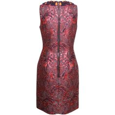 Matthew Williamson Red Polyester/Silk Mix Sleeveless Dress ($2,490) ❤ liked on Polyvore