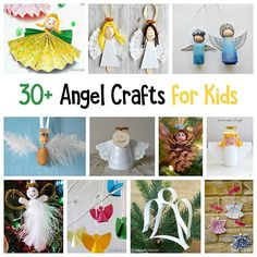 30+ Angel Crafts for Kids organized by crafting material: Paper Angel Crafts, Paper Plate Angel Crafts, Pinecone Angel Crafts, Toilet Roll Angel Crafts, Clothespin Angel Crafts, and more! Perfect for your Christmas tree or to decorate your home for the holiday! #christmascrafts #angelcrafts #christmascraftsforkids  via @https://www.pinterest.com/cmarashian/boards/