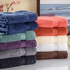 Superior Collection Super Soft & Absorbent Zero Twist 2-piece Cotton Bath Towels http://www.overstock.com/9793448/product.html?CID=245307