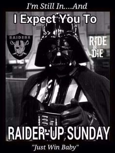 Foxydoor is a unmitigated memes platform for uploading and sharing as you wish, and also can create an account to get veritable features Raiders Team, Raiders Players, Raiders Stuff, Oakland Raiders Football, Raiders Baby, Darth Vader Meme, Eagles Win, Raider Nation, Memes