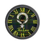 MacLaren clan badge and tartan clock $19.99 #home #decor #clocks #clock #scottish #clan #crest #tartan #badge
