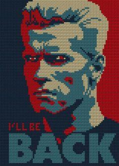 The Terminator Cross Stitch Pattern DOWNLOAD