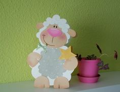 Sheep Crafts, Wood Crafts, Diy And Crafts, Diy For Kids, Crafts For Kids, Lantern Craft, Farm Party, Down On The Farm, Decorative Tile