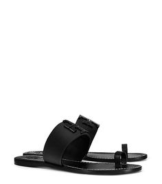 Tory Burch Lowell Perforated Toe-ring Slide