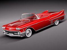 1958 Cadillac   Cadillac Deville Convertible 1958 3D Model (.3ds, .c4d, .fbx, .lwo ...