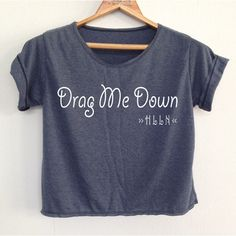 Crop Shirt Nobody Drag Me Down Shirt One Direction Shirt 1 Direction... ($13) ❤ liked on Polyvore featuring tops, crop tops, maroon, women's clothing, shirt tank, crop tank top, maroon tank top, shirts & tops and round top