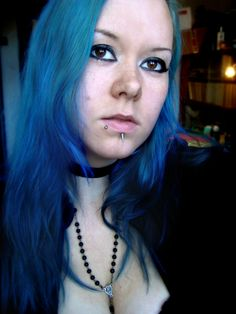 Manic panic Rockabilly blue gothic piercings
