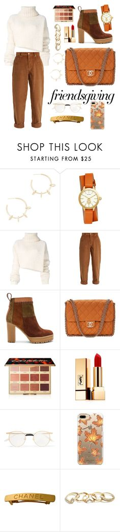 """Friendsgiving"" by lav-en-der-leaves on Polyvore featuring Justine Clenquet, Tory Burch, Ann Demeulemeester, Miu Miu, See by Chloé, Chanel, tarte, Yves Saint Laurent, Gucci and Casetify"