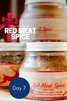 Here's one for you meat lovers. Check out chef Eric Fraudeau's Read Meat Spice perfect for lamb, red meat, game or even a salmon steak.   www.cooking-classes-uzes.com