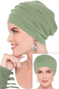 Headcovers Unlimited Slouchy Snood-Caps for Women with Chemo Cancer Hair Loss - Aqua One Size Slouchy Beanie Hats, Beanie Hats For Women, Chapeaux Bonnet Slouchy, Bonnet Hijab, Mode Turban, Hair Wrap Scarf, Turban Style, Dress Gloves, Head Accessories