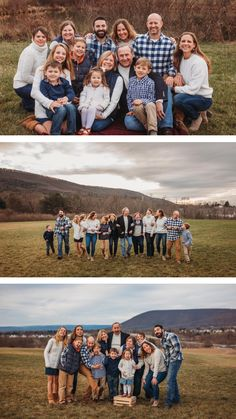 Multi generation family photography - casual and fun with grandparents Large Family Portraits, Extended Family Photography, Large Family Poses, Outdoor Family Photography, Family Portrait Poses, Outdoor Family Photos, Family Picture Poses, Family Picture Outfits, Fall Family Photos