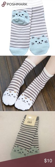 Kitty Cat Striped Socks Kitty Cat Socks. Cotton. One size fits most. Price firm unless bundled. No trades. Accessories Hosiery & Socks