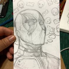 Drawing Tips deadpool drawing Graffiti Drawing, Pencil Art Drawings, Art Drawings Sketches, Cartoon Drawings, Superhero Sketches, Mode Cyberpunk, Spiderman Drawing, Deadpool Art, Marvel Drawings