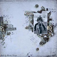 #papercraft #scrapbook #layout. Karita: Dreamroad