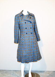Vintage Pendleton Wool Plaid Coat by CheekyVintageCloset on Etsy