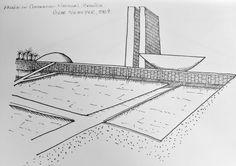 Palácio do Congresso Nacional, Brasília. Oscar Niemeyer, 1964.