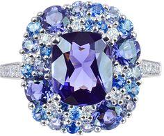"""Bague """"Émotion"""" Or, Iolites, Saphirs, Diamants © Isabelle Langlois"""