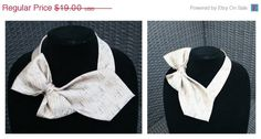 SALE (20% OFF) Statement Necklace - OOAK - Vintage Tie Necklace - Bow Tie - Repurposed - Upcycled - Gold on Etsy, $16.15 CAD