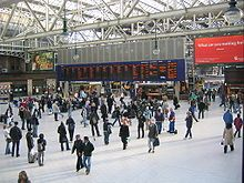 Glasgow Central station is the northern terminus of the West Coast Main Line.