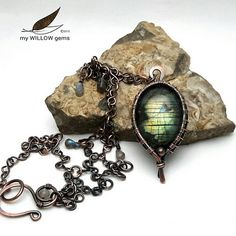 wire-wrapped-labradorite-by-mywillowgems | Wire wrapped labr… | Flickr