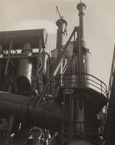 MoMA | The Collection | Charles Sheeler. Bleeder Stacks, Ford Plant, Detroit. 1927  Dog View