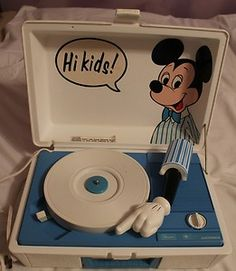 This is what I used to listen to my 45's on in middle school...till I got a real stereo:)
