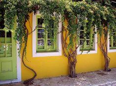 Yellow house - Fiskardo, Kefalonia / by Eelke de Blouw, via Flickr