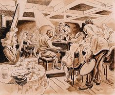 Thomas Hart Benton, Preliminary Shake Down, New Orleans, 1943 American Realism, American Artists, Submarine Museum, Social Realism, Ink Wash, Printmaking, Wwii, Illustrators, Oil On Canvas