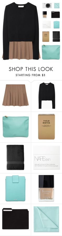 """SECRET SANTA READ DESC."" by sunstorms ❤ liked on Polyvore featuring Organic by John Patrick, American Apparel, Royal Velvet, NARS Cosmetics, Tiffany & Co., Butter London, Nikon and Liz Claiborne"