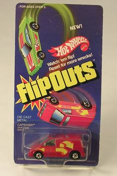 Hot Wheels Flip Outs Die Cast Capsider Dated 1985 by JohnGermaine on Etsy