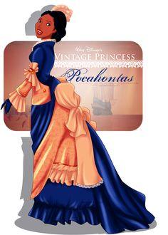 Vintage Princess -Pocahontas by selinmarsou.deviantart.com on @deviantART