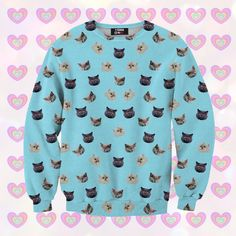 T-Shirts & Jumpers – Kitties sweater for kids – a unique product by mrgugu on DaWanda