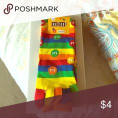 M&M toe socks Never been worn still in the packaging. Can fit size 4-10 foot. Accessories Hosiery & Socks