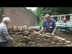 How to make or build a Natural Traditional Irish Dry Stone Wall / Making raised Vegetable Beds - YouTube